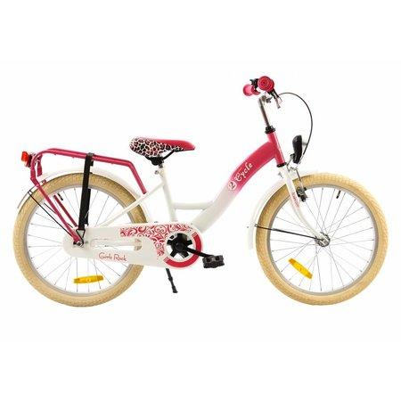 2Cycle Meisjesfiets 20 inch Roze-Wit (2075)
