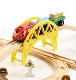 P&M Houten Trein 70 delig met elektrische trein (1506)