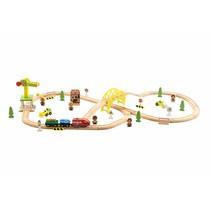Houten Trein 70 delig met elektrische trein