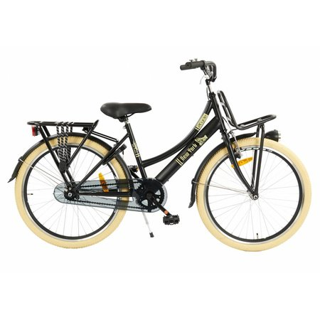 2Cycle 2Cycle New-York Transportfiets - 24 inch - Voordrager Zwart