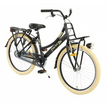 2Cycle New-York Transportfiets - 24 inch - Voordrager Zwart