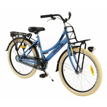 2Cycle New-York Transportfiets - 24 inch - Voordrager - Denim