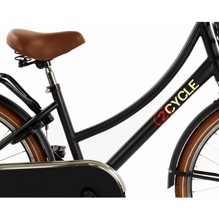 2Cycle 2Cycle Transportfiets - 24 inch - Voordrager - Mat-Zwart