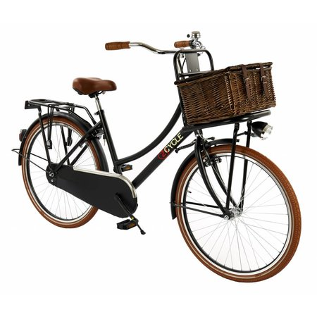 2Cycle 2Cycle Transportfiets - 26 inch - Voordrager - Mat-Zwart