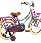2Cycle 2Cycle Heart Kinderfiets - 16 inch - Grijs-Roze