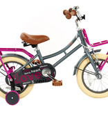 2Cycle 2Cycle Heart Kinderfiets - 14 inch - Grijs-Roze