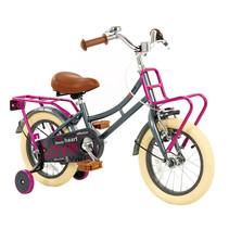Kinderfiets 14 inch Grijs-Roze