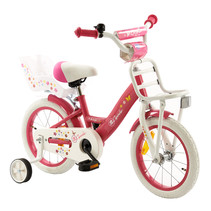 2Cycle Magic Kinderfiets - 14 inch - Voordrager - Wit-Roze