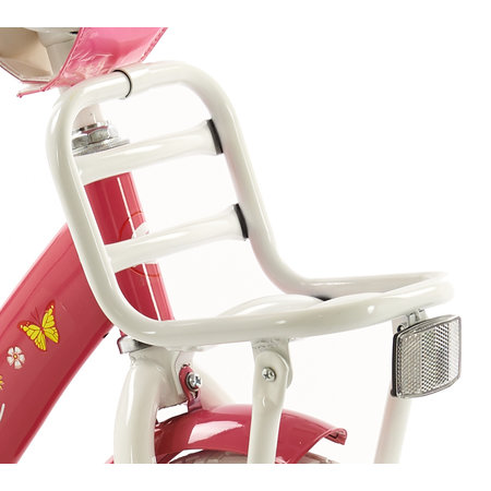 2Cycle 2Cycle Magic Kinderfiets - 14 inch - Voordrager - Wit-Roze