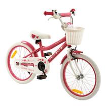Kinderfiets 18 inch Sweet Roze-Wit