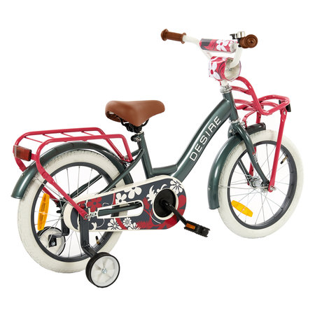 2Cycle 2Cycle Desire Kinderfiets - 16 inch - Grijs-Roze