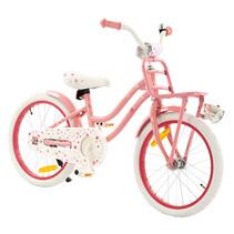 Meisjesfiets 18 inch Superstar roze met Voordrager