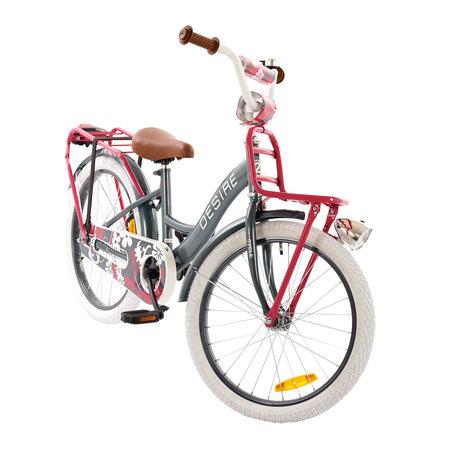 2Cycle 2Cycle Desire Kinderfiets - 20 inch - Voordrager -Grijs-Roze