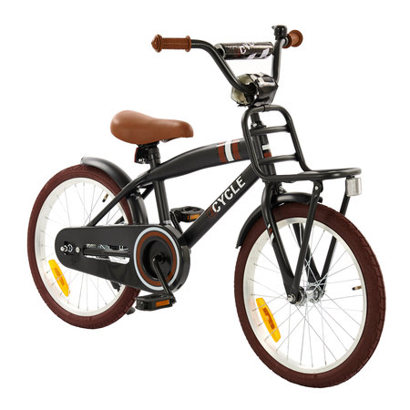 2Cycle 2Cycle Cargo Kinderfiets - 18 inch - Mat-Zwart