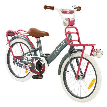 2Cycle 2Cycle Desire Kinderfiets - 18 inch - Voordrager - Grijs