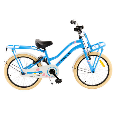 2Cycle 2Cycle Heart Kinderfiets - 20 inch - Voordrager - Blauw