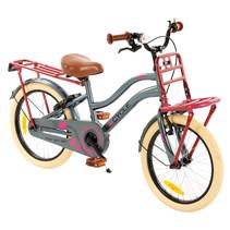 2Cycle Heart Meisjesfiets 18 inch grijs-roze