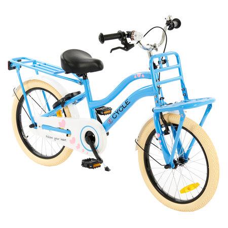 2Cycle 2Cycle Heart Meisjesfiets 18 inch blauw (1888)