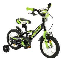Kinderfiets 12 inch BMX groen-zwart