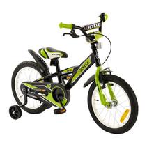 Kinderfiets 16 inch BMX groen-zwart