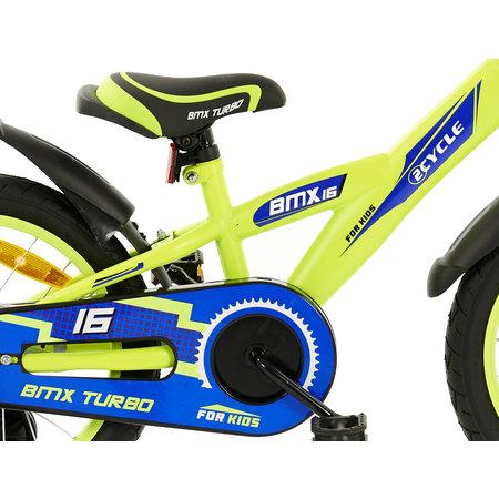 2Cycle Kinderfiets 16 inch BMX geel-blauw (16007)