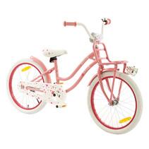 Meisjesfiets 20 inch Superstar roze met Voordrager