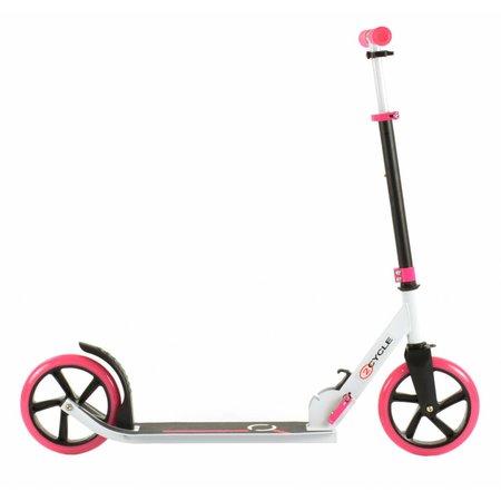 2Cycle 2Cycle Step - Aluminium - Große Räder - 20cm -Rosa-Weiß