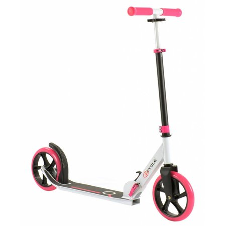 2Cycle 2Cycle Step - Aluminium -  Grote Wielen - 20cm -Roze-Wit - 2e