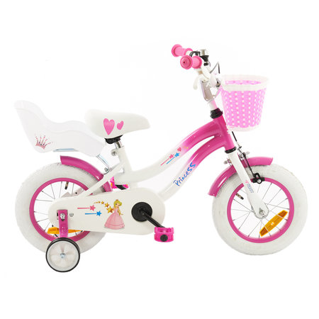 2Cycle 2Cycle Princess Kinderfiets -12 inch - Poppenzitje- Roze - 2e