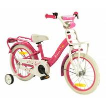 2Cycle Magic Kinderfiets - 16 inch - Roze-Wit  2e kans