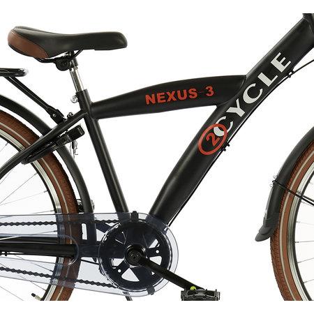 2Cycle 2Cycle Nexus-3 Jongensfiets - 26 inch - mat-zwart