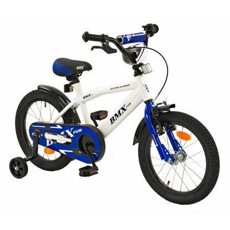2Cycle 2Cycle BMX Kinderfiets - 16 inch - Wit-Blauw