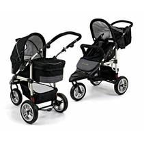 Combi-Kinderwagen 2 in 1 Basic Zwart