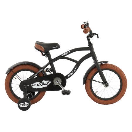 2Cycle 2Cycle Cruiser Kinderfiets - 14 inch - Mat-Zwart