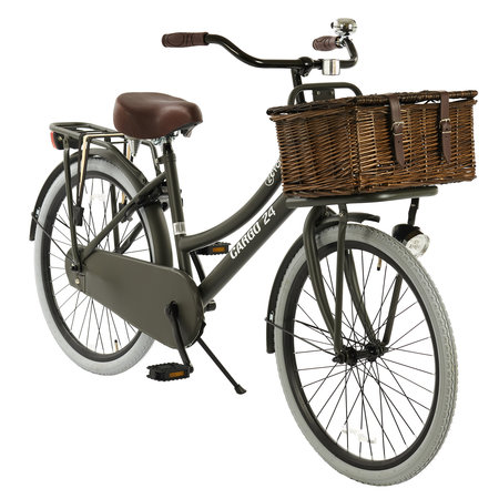 2Cycle 2Cycle Transportfiets - 24 inch - Mat-Grijs - 3-Speed