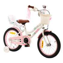 2Cycle Magic Kinderfiets  -16 inch - Poppenzitje - Wit
