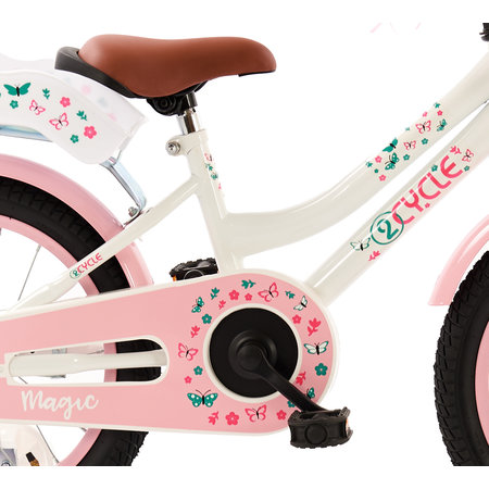 2Cycle 2Cycle Magic Kinderfiets  -16 inch - Poppenzitje - Wit