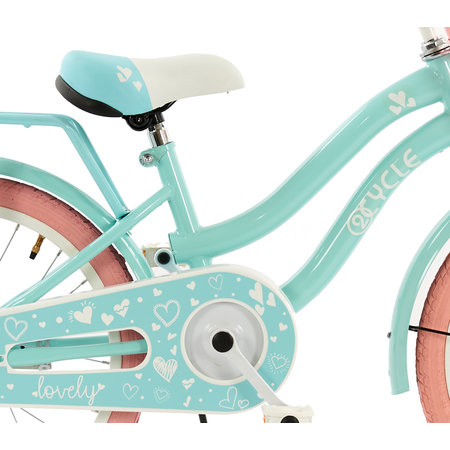 2Cycle 2Cycle Lovely Kinderfiets - 18 inch - Voordrager - Turquoise