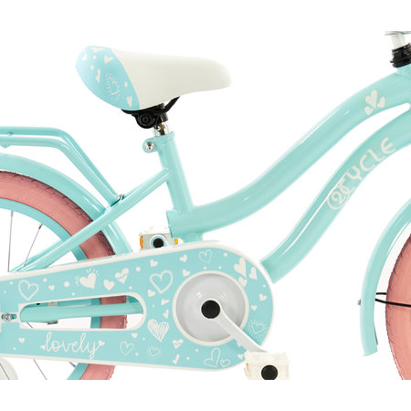2Cycle 2Cycle Lovely Kinderfiets  -16 inch - Turquoise