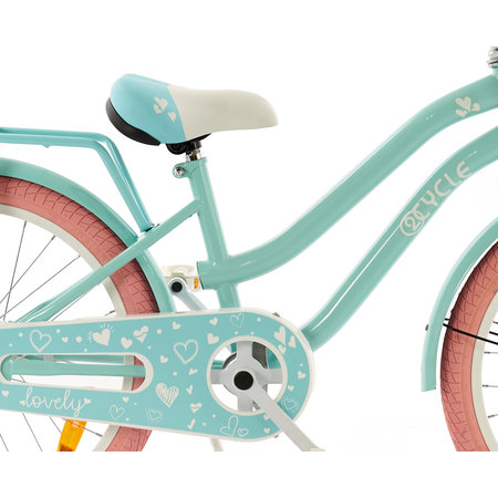 2Cycle 2Cycle Lovely Kinderfiets - 20 inch - Voordrager - Turquoise