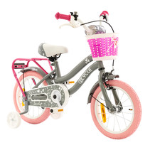 2Cycle Lovely Kinderfiets - 14 inch - Grijs