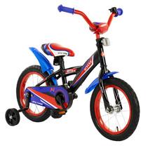 Kinderfiets 14 inch BMX blauw-rood
