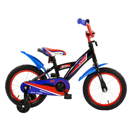 2Cycle Kinderfiets 14 inch BMX blauw-rood (1433)