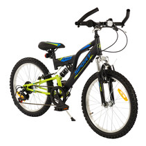 2Cycle MTB Sports - 20 inch - 6-speed - Zwart-Groen
