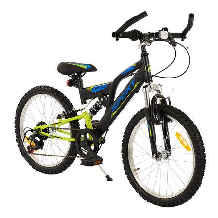 2Cycle 2Cycle MTB Sports - 20 inch - 6-speed - Zwart-Groen
