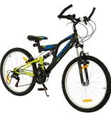 2Cycle 2Cycle Sports MTB - 24 inch - 18-speed - Mat-Zwart-Groen