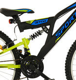 2Cycle 2Cycle  MTB - 26 inch - 18-Speed - Mat Zwart-Groen
