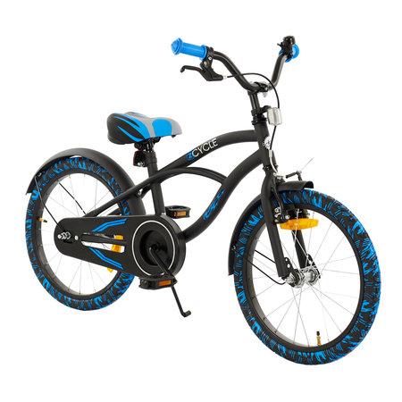 2Cycle 2Cycle Cruiser Kinderfiets - 18 inch - Zwart-Blauw