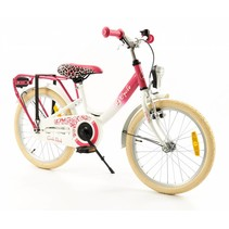 2Cycle Girls Kinderfiets - 18 inch - Roze-Wit