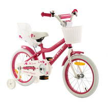 2Cycle Sweet Kinderfiets  -16 inch - Poppenzitje - Roze-Wit